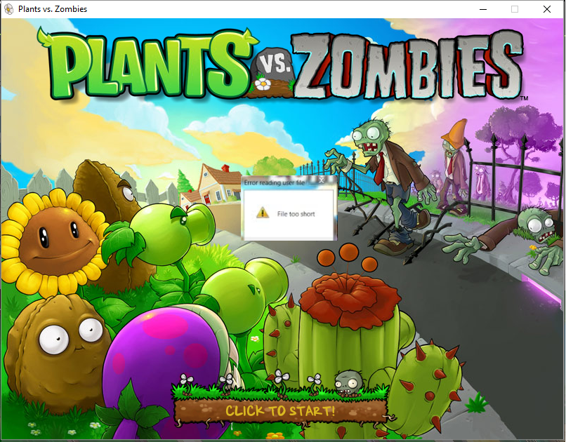 plants vs zombies error user file is wrong size or invalid file